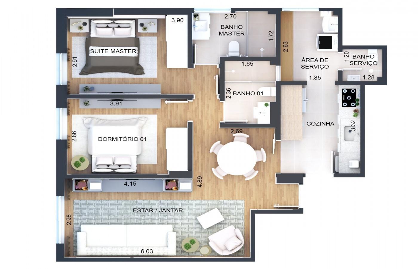 Planta Baixa do Apartamento